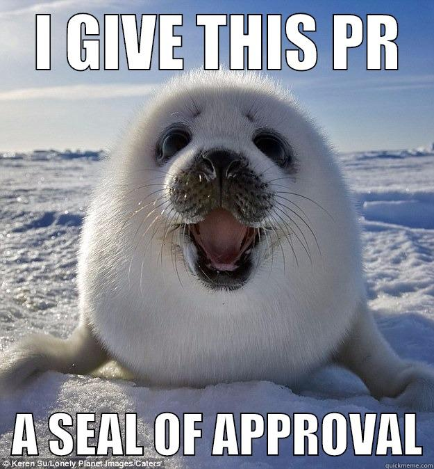 I GIVE THIS PR   A SEAL OF APPROVAL Easily Pleased Seal