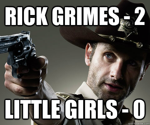 Rick Grimes - 2 Little Girls - 0  Rick Grimes Walking Dead