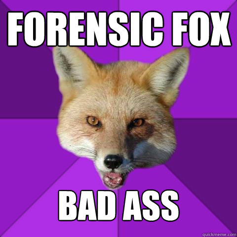 Forensic FOX bad ass  Forensics Fox