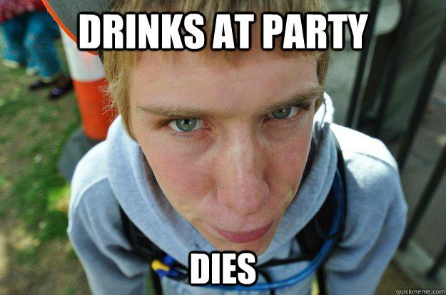 Drinks at Party Dies