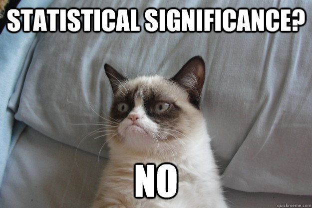statistical significance? no - statistical significance? no  Misc