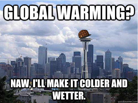 Global Warming? Naw, I'll make it colder and wetter.