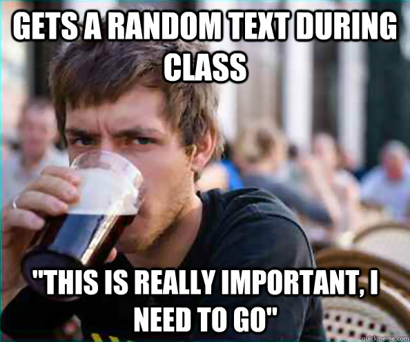 Gets a random text during class