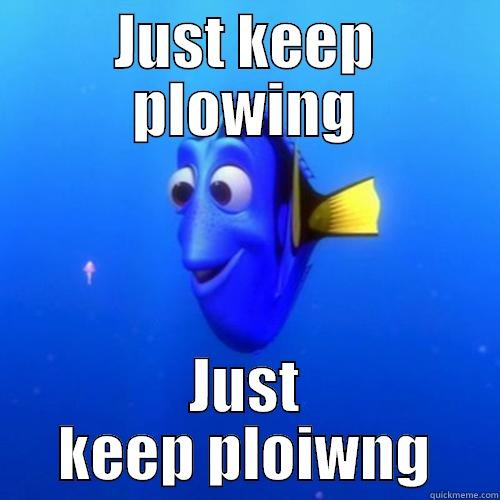 JUST KEEP PLOWING JUST KEEP PLOIWNG dory