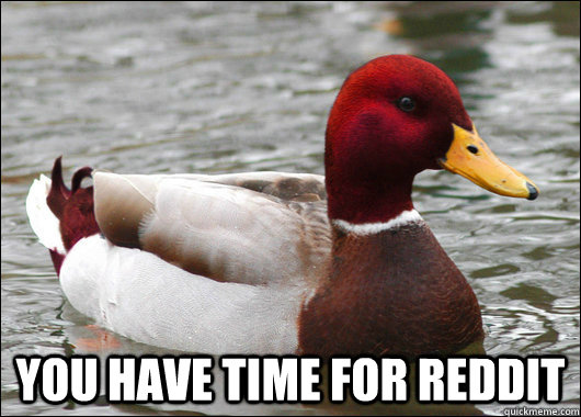 You have time for reddit -  You have time for reddit  Malicious Advice Mallard