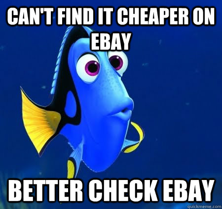 can't find it cheaper on ebay better check ebay  Forgetful Dory