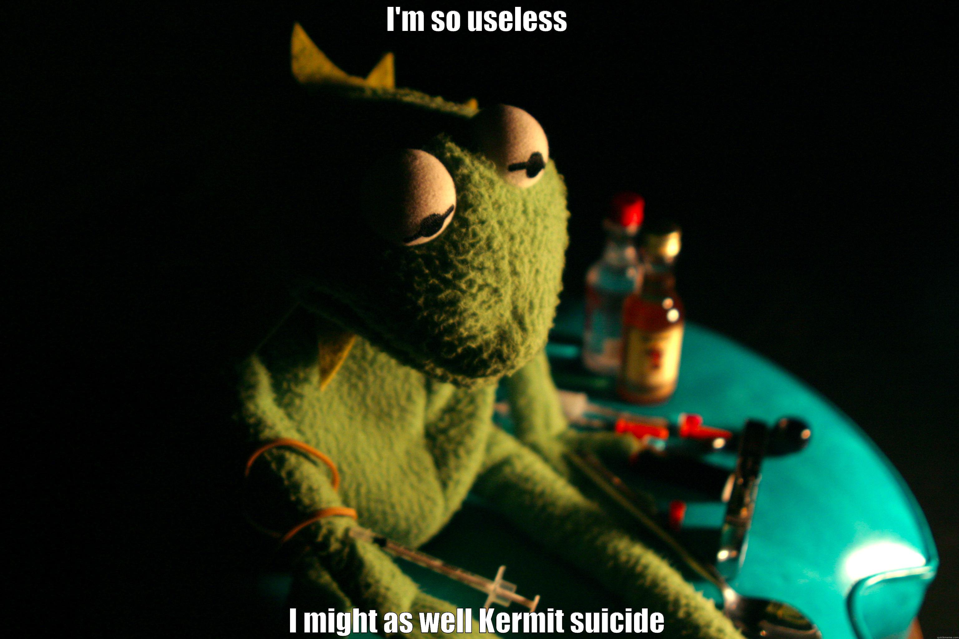 Depressed Kermit - quickmeme