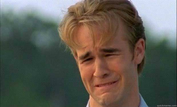 james vanderbeek crying