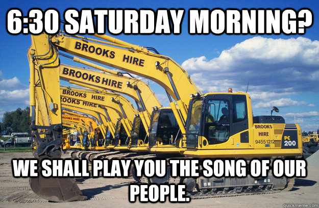 6:30 Saturday Morning? We shall play you the song of our people. - 6:30 Saturday Morning? We shall play you the song of our people.  Misc