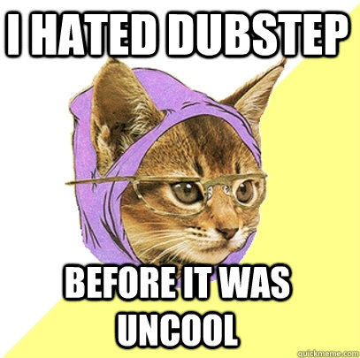 I hated dubstep before it was uncool  Hipster Kitty