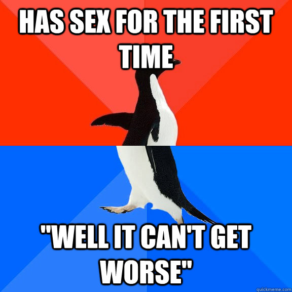 Has sex for the first time