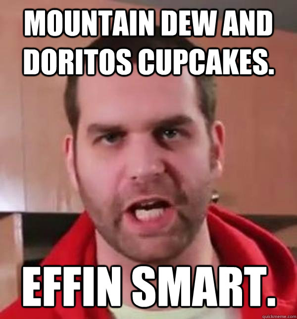 Mountain Dew and Doritos Cupcakes. Effin smart. - Mountain Dew and Doritos Cupcakes. Effin smart.  Epic Meal Time