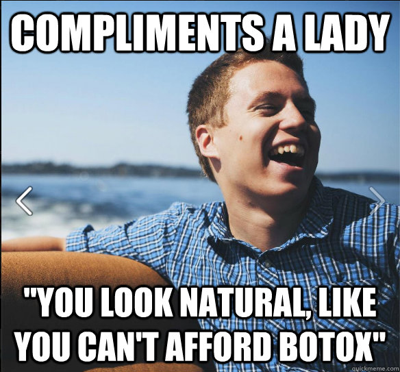 Compliments a lady