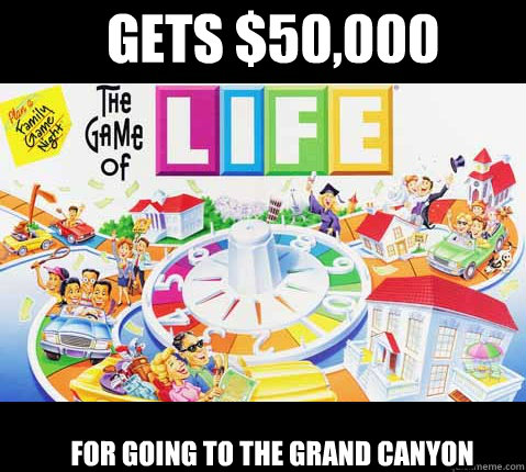Gets $50,000 For going to the grand canyon