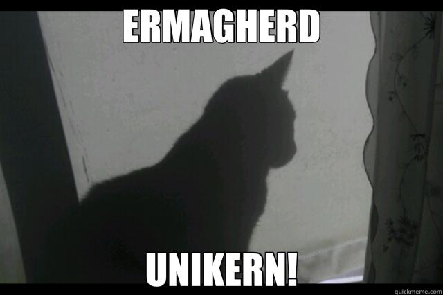 ERMAGHERD UNIKERN!
