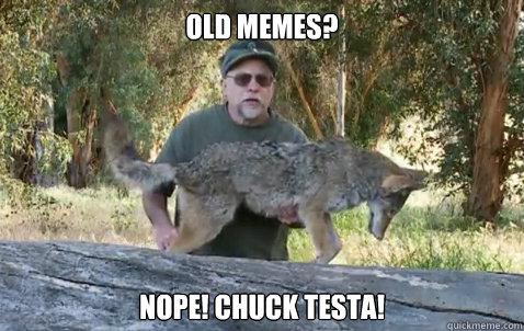 Old memes?  Nope! Chuck Testa!