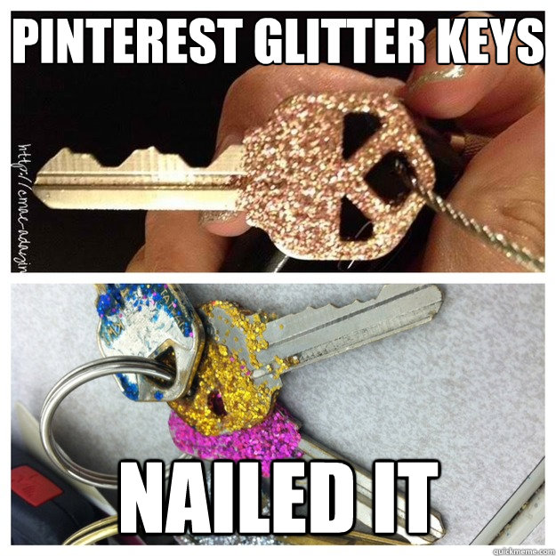 pinterest Glitter Keys Nailed it - pinterest Glitter Keys Nailed it  Pinterest Nailed It