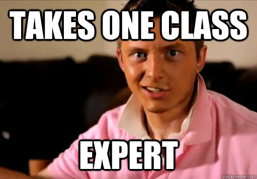 Takes one class Expert