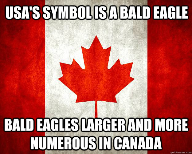 usa's symbol is a bald eagle bald eagles larger and more numerous in canada