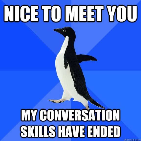 Nice to meet you my conversation skills have ended - Nice to meet you my conversation skills have ended  Misc