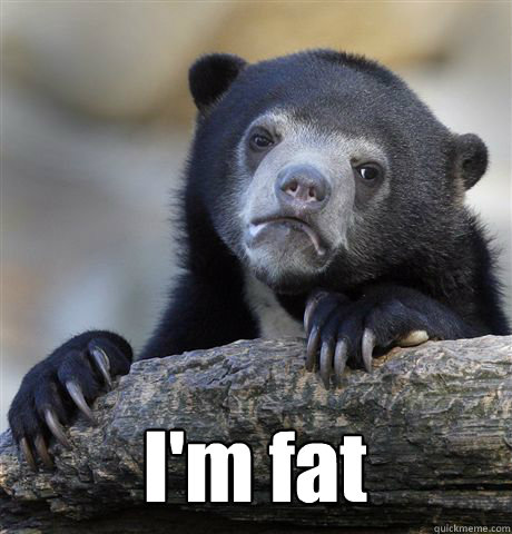 I'm fat -  I'm fat  Confession Bear