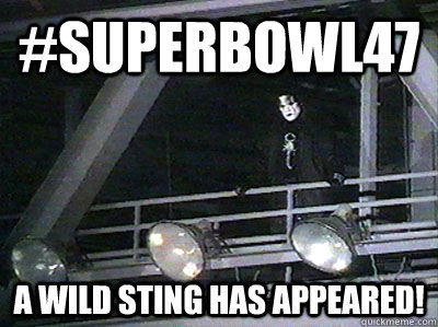 #Superbowl47 A Wild Sting has appeared! - #Superbowl47 A Wild Sting has appeared!  super bowl 47