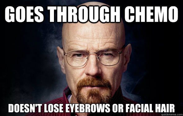 goes through chemo doesn't lose eyebrows or facial hair
