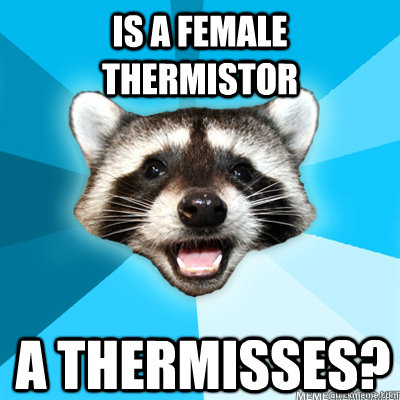Is a female thermistor a thermisses?