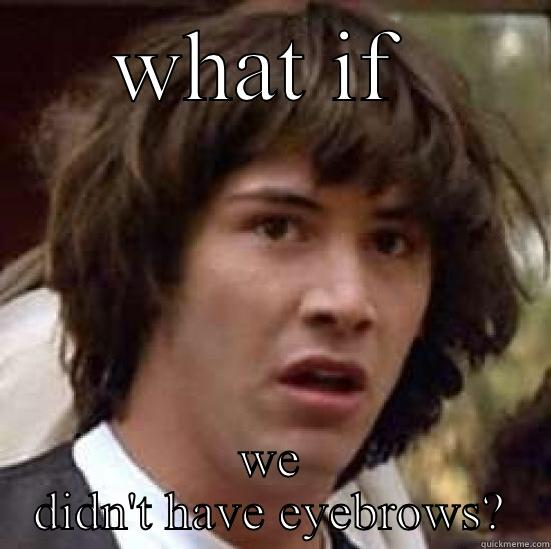 WHAT IF  WE DIDN'T HAVE EYEBROWS? conspiracy keanu