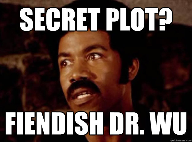 secret plot? fiendish dr. wu