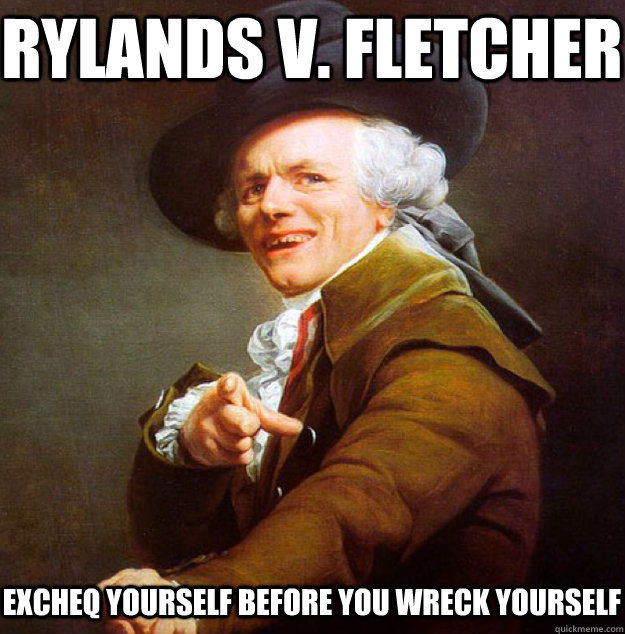 Rylands v. Fletcher Excheq yourself before you wreck yourself  Joseph Decreux