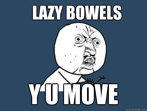 lazy bowels y u move - lazy bowels y u move  Y U No