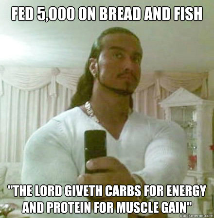 Fed 5,000 on bread and fish