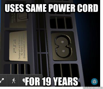 Uses same power cord for 19 years - Uses same power cord for 19 years  Misc