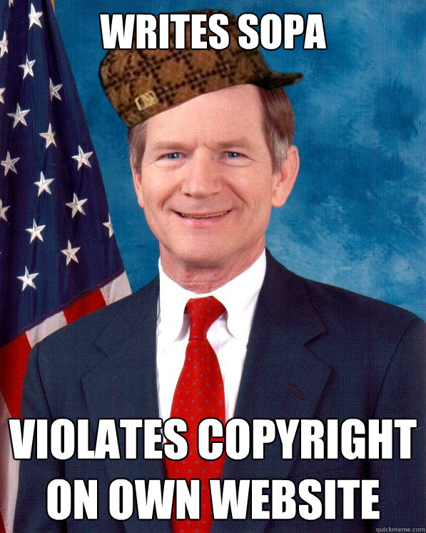 WRITES SOPA VIOLATES COPYRIGHT ON OWN WEBSITE