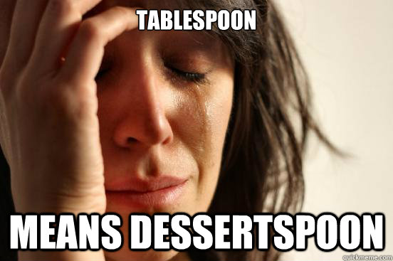 TABLESPOON MEANS DESSERTSPOON - TABLESPOON MEANS DESSERTSPOON  Misc