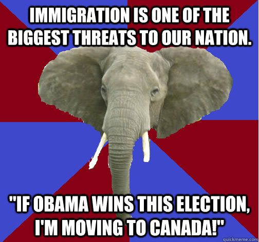 Immigration is one of the biggest threats to our nation.