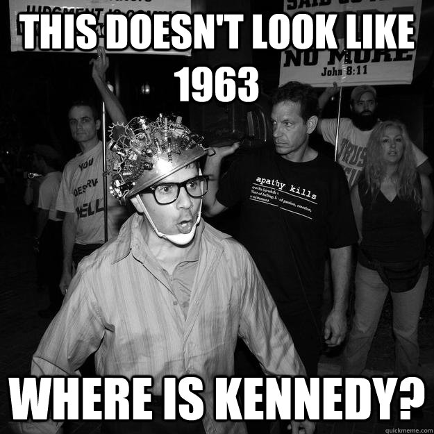 This doesn't look like 1963 Where is kennedy?