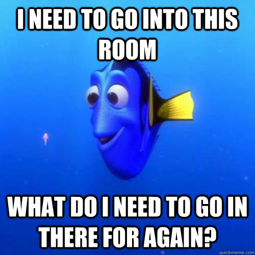 i need to go into this room what do i need to go in there for again? - i need to go into this room what do i need to go in there for again?  dory