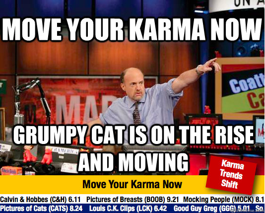 move your karma now grumpy cat is on the rise and moving - move your karma now grumpy cat is on the rise and moving  Mad Karma with Jim Cramer