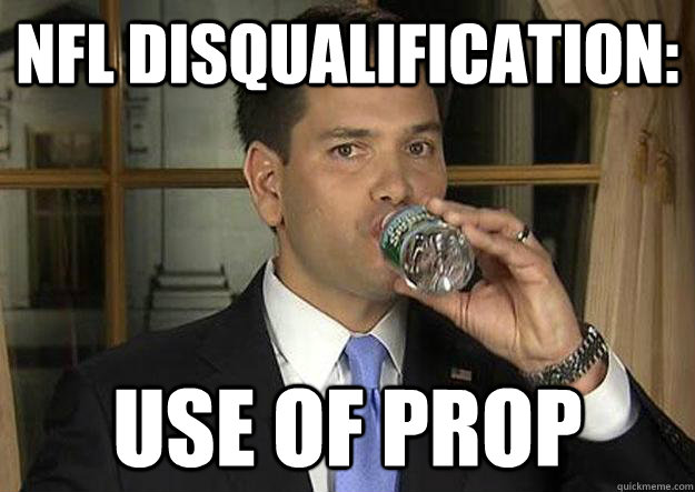 1cb71e58aa18c94ebef3f129643b134f4f589b2c96efbd8f1e5a59b25cf920a2 nfl disqualification use of prop marco rubio nfl speech dq,Marco Rubio Memes