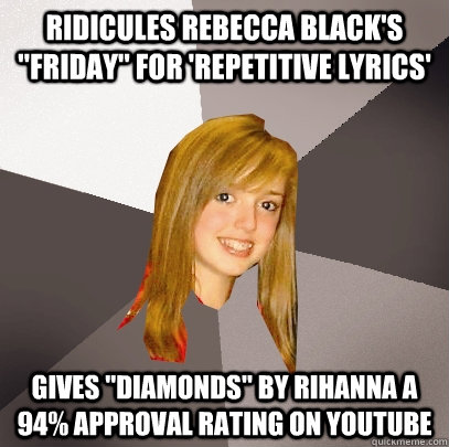 Ridicules Rebecca Black's