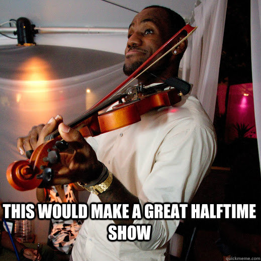 this would make a great halftime show