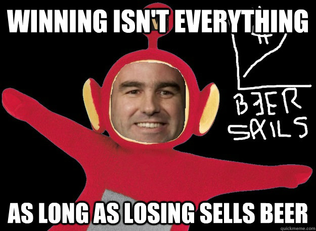 Winning isn't everything as long as losing sells beer - Winning isn't everything as long as losing sells beer  Molsons Magic Mantras