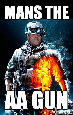 Mans the AA gun