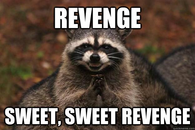 revenge Sweet, sweet revenge - revenge Sweet, sweet revenge  Evil Plotting Raccoon