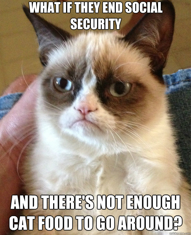 What if They End Social Security And there's not enough cat food to go around? - What if They End Social Security And there's not enough cat food to go around?  Misc