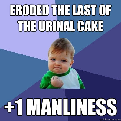 Eroded the last of the urinal cake +1 manliness - Eroded the last of the urinal cake +1 manliness  Success Kid
