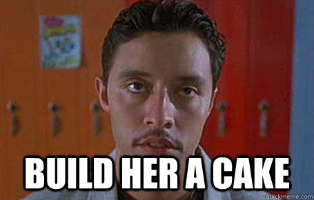 build her a cake -  build her a cake  Pessimistic Pedro