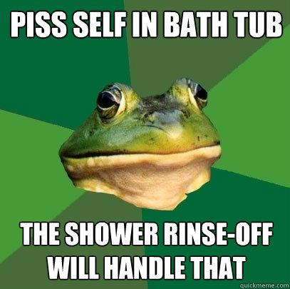 Bath piss tub